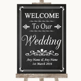 Chalk Style Welcome To Our Wedding Customised Wedding Sign