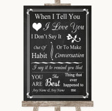 Chalk Style When I Tell You I Love You Customised Wedding Sign