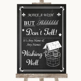 Chalk Style Wishing Well Message Customised Wedding Sign