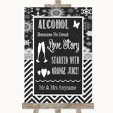 Chalk Winter Alcohol Bar Love Story Customised Wedding Sign