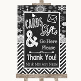 Chalk Winter Cards & Gifts Table Customised Wedding Sign