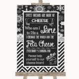 Chalk Winter Cheese Board Song Customised Wedding Sign
