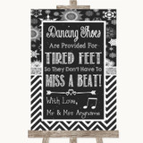Chalk Winter Dancing Shoes Flip-Flop Tired Feet Customised Wedding Sign