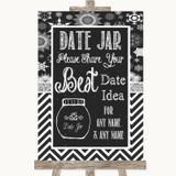 Chalk Winter Date Jar Guestbook Customised Wedding Sign