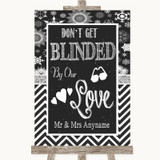 Chalk Winter Don't Be Blinded Sunglasses Customised Wedding Sign
