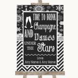 Chalk Winter Drink Champagne Dance Stars Customised Wedding Sign