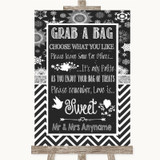 Chalk Winter Grab A Bag Candy Buffet Cart Sweets Customised Wedding Sign