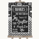 Chalk Winter Hankies And Tissues Customised Wedding Sign
