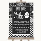 Chalk Winter Have Your Cake & Eat It Too Customised Wedding Sign