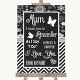 Chalk Winter I Love You Message For Mum Customised Wedding Sign