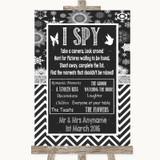 Chalk Winter I Spy Disposable Camera Customised Wedding Sign