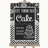 Chalk Winter Let Them Eat Cake Customised Wedding Sign