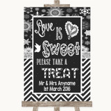 Chalk Winter Love Is Sweet Take A Treat Candy Buffet Customised Wedding Sign
