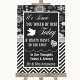 Chalk Winter Loved Ones In Heaven Customised Wedding Sign