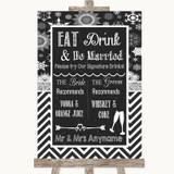 Chalk Winter Signature Favourite Drinks Customised Wedding Sign