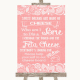 Coral Burlap & Lace Cheese Board Song Customised Wedding Sign