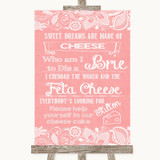 Coral Burlap & Lace Cheesecake Cheese Song Customised Wedding Sign