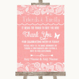 Coral Burlap & Lace Photo Guestbook Friends & Family Customised Wedding Sign