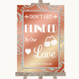 Coral Pink Don't Be Blinded Sunglasses Customised Wedding Sign