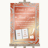 Coral Pink Photo Guestbook Friends & Family Customised Wedding Sign