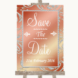 Coral Pink Save The Date Customised Wedding Sign