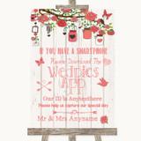 Coral Rustic Wood Wedpics App Photos Customised Wedding Sign
