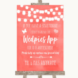 Coral Watercolour Lights Wedpics App Photos Customised Wedding Sign