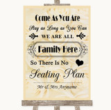 Cream Roses All Family No Seating Plan Customised Wedding Sign