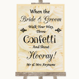 Cream Roses Confetti Customised Wedding Sign