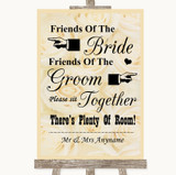 Cream Roses Friends Of The Bride Groom Seating Customised Wedding Sign