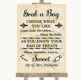Cream Roses Grab A Bag Candy Buffet Cart Sweets Customised Wedding Sign