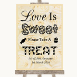 Cream Roses Love Is Sweet Take A Treat Candy Buffet Customised Wedding Sign
