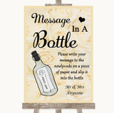 Cream Roses Message In A Bottle Customised Wedding Sign