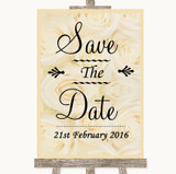 Cream Roses Save The Date Customised Wedding Sign