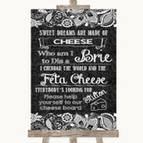 Dark Grey Burlap & Lace Cheese Board Song Customised Wedding Sign