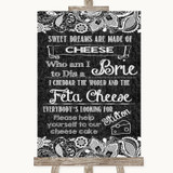 Dark Grey Burlap & Lace Cheesecake Cheese Song Customised Wedding Sign
