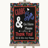 Floral Chalk Cards & Gifts Table Customised Wedding Sign
