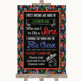 Floral Chalk Cheesecake Cheese Song Customised Wedding Sign