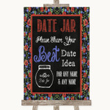 Floral Chalk Date Jar Guestbook Customised Wedding Sign