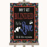 Floral Chalk Don't Be Blinded Sunglasses Customised Wedding Sign