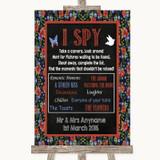 Floral Chalk I Spy Disposable Camera Customised Wedding Sign