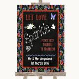Floral Chalk Let Love Sparkle Sparkler Send Off Customised Wedding Sign