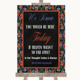 Floral Chalk Loved Ones In Heaven Customised Wedding Sign