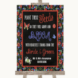 Floral Chalk Plant Seeds Favours Customised Wedding Sign