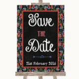 Floral Chalk Save The Date Customised Wedding Sign