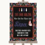 Floral Chalk Toiletries Comfort Basket Customised Wedding Sign