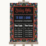 Floral Chalk Who's Who Leading Roles Customised Wedding Sign