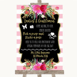 Gold & Pink Stripes Pick A Prop Photobooth Customised Wedding Sign