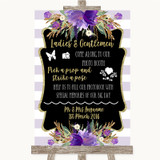Gold & Purple Stripes Pick A Prop Photobooth Customised Wedding Sign