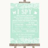 Green Burlap & Lace I Spy Disposable Camera Customised Wedding Sign
